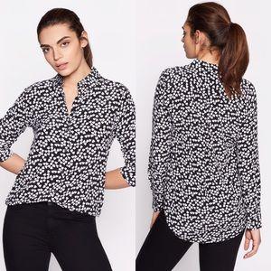 Equipment Tops - EQUIPMENT Essential Silk Shirt Heart Print Blouse
